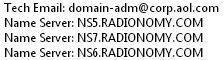 radionomy nameserver