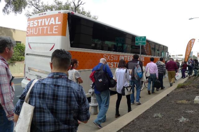 sxsw - shuttle bus