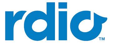 rdio logo spelled