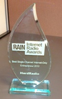 rain internet radio awards plaque