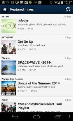 8tracks featured in android 250w
