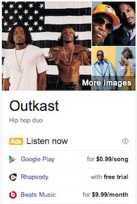 Google artist ad