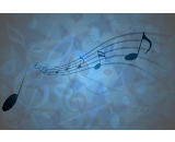 blue music canvas