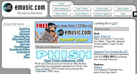 eMusic in 1999