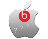 beats and apple question marks canvas