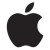 Apple logo black canvas