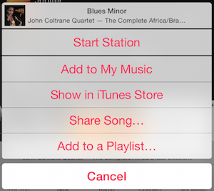 Apple Music buttons