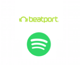 Beatport + Spotify logos canvas