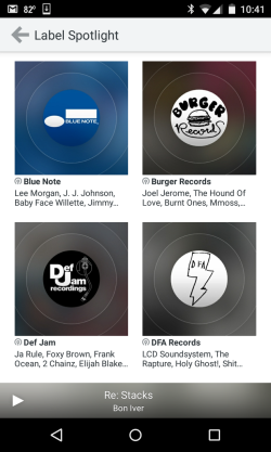 rdio label stations