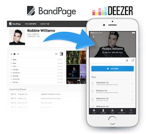 Deezer BandPage