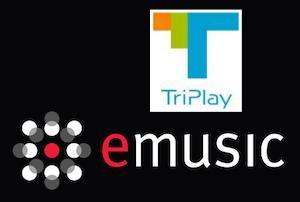 TriPlay eMusic logos