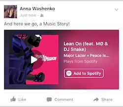 Facebook Music Stories