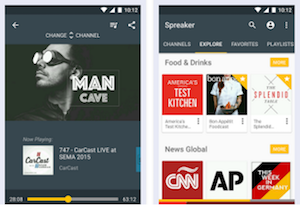 Spreaker Podcast Radio app