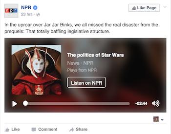 NPR Facebook audio