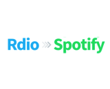 Rdio to Spotify canvas
