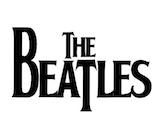 The Beatles bw logo canvas