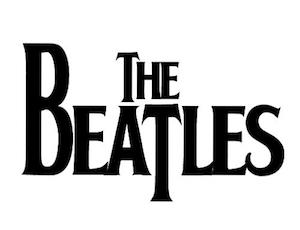 The Beatles bw logo
