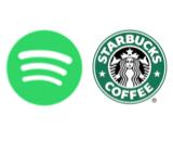 Spotify Starbucks logos canvas