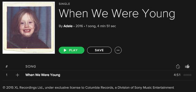 Adele 25 single streaming