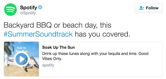 Spotify Twitter audio card