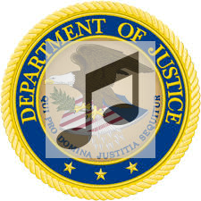 departmentof justice logo and music notes