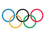 Olympic rings canvas