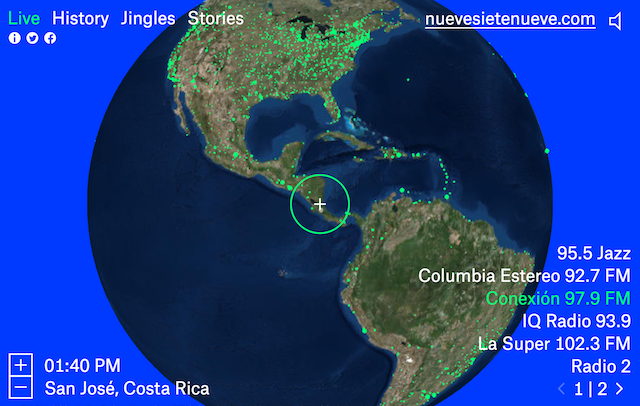 Virtual globe lets you tune into the world's radio stations