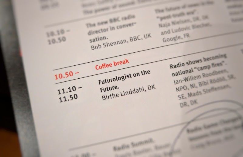 Can't pretend I was overly delighted at seeing another 'futurologist' at a radio conference. Turns out that Birthe describes herself as a 'futurist', so that's okay then. But I didn't see this session so can't really comment, other than to point out that 'futurologist' is a made-up word that doesn't exist.