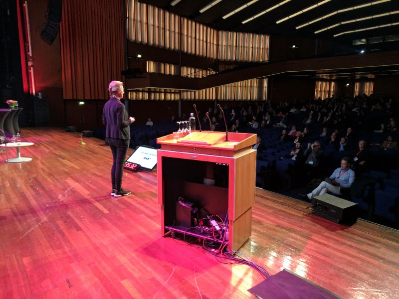 "A view from backstage, as Jaqueline Bierhorst from the Netherlands outlined her plans for DAB, followed by the Norwegians explaining what their thoughts were when they began switching FM off in the country. They presented some audience figures - showing total weekly audience is down ten percentage points (""better than expected"", they said), but also showing that streaming music consumption hadn't increased. Nor had listening to radio over IP, incidentally."
