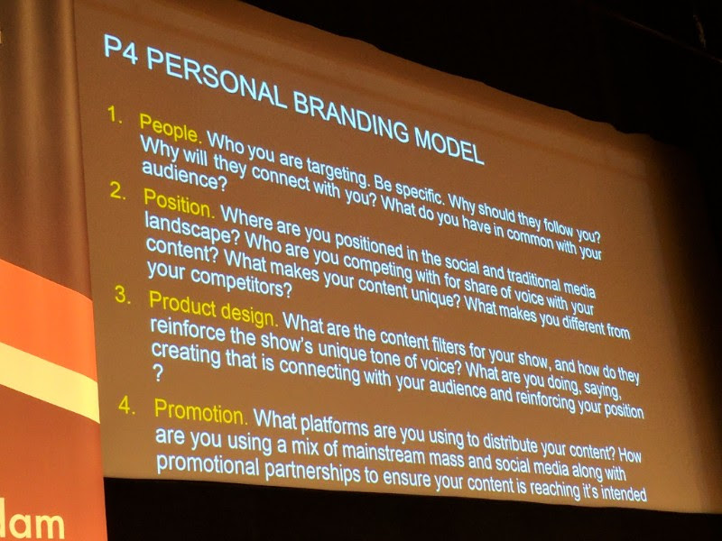 """From Craig Bruce - a """"personal branding model"""" (built for breakfast shows, but valuable to anyone). Craig was, as ever, excellent - using his podcast to highlight things he's learnt. From Next Radio last year, here's an earlier version of the same talk."""