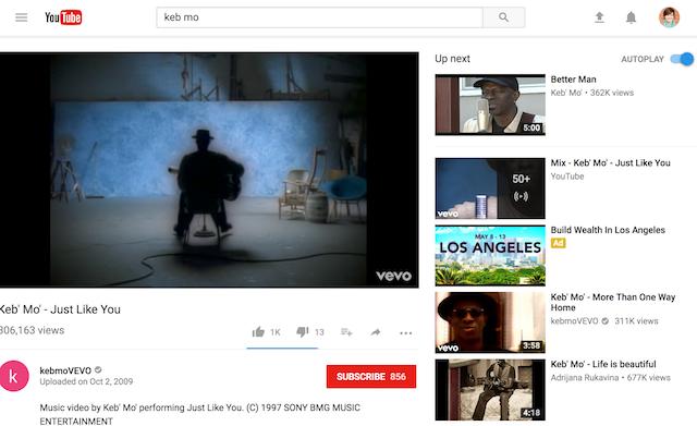 youtube tests out a new desktop design rain news