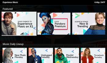 Pandora partners with Comcast Xfinity X1 for music showcase